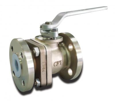 Robinet à boisseau sphérique en acier inoxydable avec revêtement PFA (modèle standard) – PB12 – Bueno