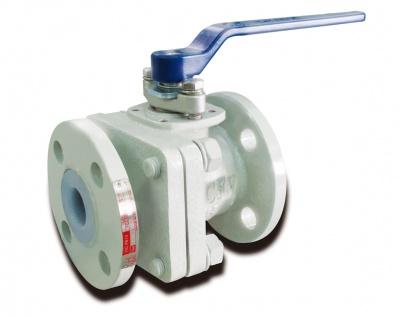 Robinet à boisseau sphérique en fonte ductile revêtu en PFA – PB12D – CLASS150 – Bueno