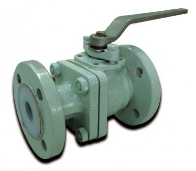 Robinet à boisseau sphérique en fonte ductile revêtu en PFA – PB31D – PN16 – Bueno