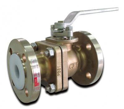 Robinet à boisseau sphérique en acier inoxydable avec revêtement PFA – PB31 – PN16 – Bueno